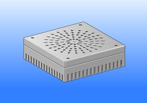 SM Systeme Rost flach 400x400mm Ober- und Unterteil verstellbar 30-50mm Aluminium
