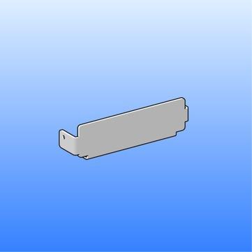 SM Systeme Rinne Endstück Flachdachrinne mit Einrasttechnik Aluminium
