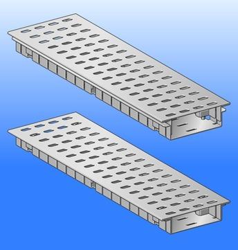 SM Systeme Rinne 500mm verstellbar 30-50mm Flachdachrinne Ober- und Unterteil mit 1 Steckverbinder Aluminium