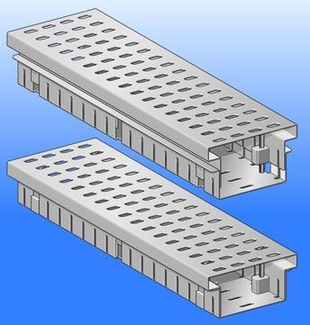 SM Systeme Rinne 2000mm verstellbar 60-95mm Standard Ober- und Unterteil mit 1 Steckverbinder Aluminium