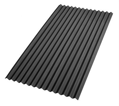 Scobalitwerk Guttanit K11 Bitumenwellplatte 2000x830 mm Profil 76/30 mm Schwarz