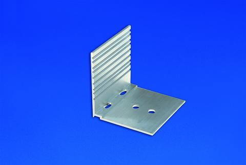 Scobalitwerk Abschluss und Haltewinkel Alu pressblank 50x60x60 mm Pressblank
