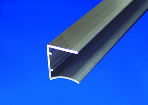 Scobalitwerk Profil Alu U-Form 980 mm pressblank 16 mm mit Tropfnase Pressblank