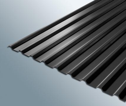 Scobalitwerk Profilplatte Trapez 115/18 mm 2000 mm anthrazit B 1080 mm Stahl