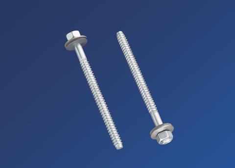 Scobalitwerk Metallschraube 6,3x80 mm mit Neoprendichtung Sechskant 3/8 Zoll Edelstahl V2A
