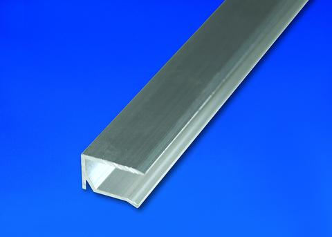 Scobalitwerk U-Profil Kantenschutz 6000 mm pressblank, 10 mm mit Tropfnase