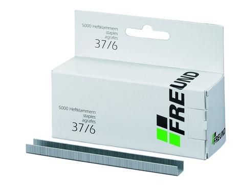 FREUND Heftklammern 37/ 6 mm 01741019 für RAPID19 5000 Stück Verzinkt