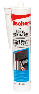 Fischer Deutschland Bausilicon DA Acryldichtstoff Inhalt 310 ml Grau