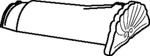 Braas Firstanfang konisch Muschel Hainstadt/Obergräfenhain matt mit Klammer Naturrot