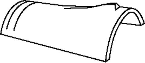 Braas Firstziegel konisch Petershagen Hochglanz mit Klammer Tanne glasiert