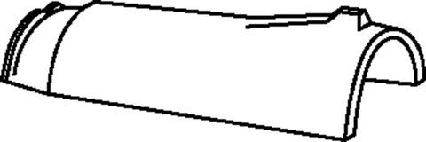 Braas Firstziegel konisch Hainstadt/Obergräfenhain matt mit Klammer Kupferrot engobiert