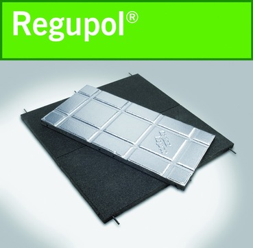 BSW Regupol walkway AK 30x1000x500 mm Dach- und Gehwegplatten mit Bohrung Grün