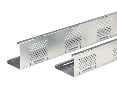 Bauder Kiesfangleiste AL100/80 Länge 2,5 m für Kunststoffbahnen Alu