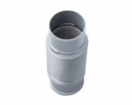 Braas Schlauchanschluss flexibel DN 100 Dachsystemteil Grau