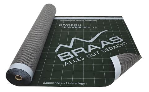 Braas Divoroll Maximum+ 2S 50x1,5 m UDB-A, USB-A mit Doppel-Klebezone