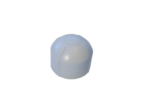 Bauder Dunsthaube DN 125 für PVC-Bahnen mit Gummiring Lichtgrau