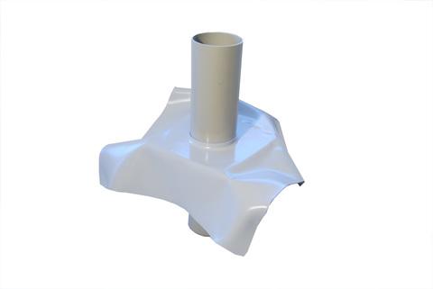 Bauder Dunstrohr DN 70 für PVC-Bahnen bis 250mm Dämmstärke Lichtgrau