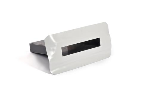 Bauder Notüberlauf PVC 300x100x600 mm Winkel 5° Rechteck