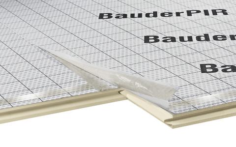 Bauder Dämmelement PIR-AZS 50 mm MV/028 1780x1180 mm Mineralvlies WLS 028