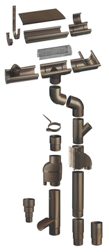 Braas 5-teilige Endstück universal halbrund Richtgröße 180 mm Grau