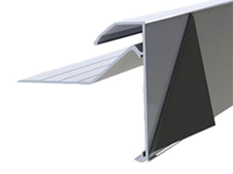 DTB Flachdachabschlussprofil Galant 5 m mit Folie 2-teilig Blendhöhe 150 mm Aluminium