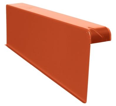 DTB Windschutz-Ortgang links 160/60 mm Aluminium mit Spenglerschrauben BE-klassikrot Klassikrot