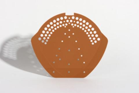 DTB Firstendscheibe Aluminium B- Ziegelrot