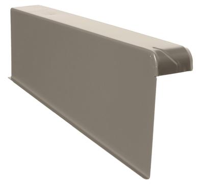 DTB Windschutz-Ortgang links 160/60mm Alu mit Spenglerschrauben B-granit