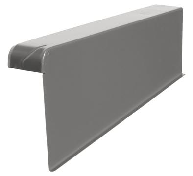 DTB Windschutz-Ortgang rechts 180/60mm Alu mit Spenglerschrauben E-dunkelgrau