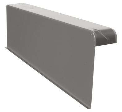 DTB Windschutz-Ortgang links 160/60 mm Aluminium mit Spenglerschrauben E-dunkelbraun Dunkelbraun