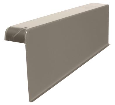 DTB Windschutz-Ortgang rechts 160/60mm Alu mit Spenglerschrauben B-granit