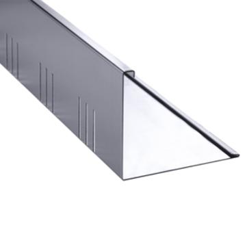 DTB Kiesfangleiste 80x3000mm Lochung 5x50mm 4 Kanten Aluminium