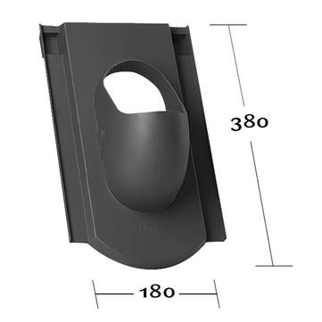 Klöber KE0029-3 Biber Einfachdeckung 0100 Grundplatte Rot