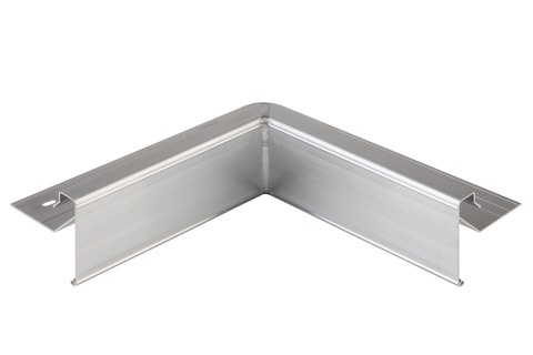 Lübke Dachrand Combi 100 mm Innenecke 250x250 mm 90 Grad Ecke Aluminium