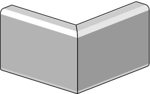 Lübke Dachrand Combi 130 mm Außenecke 250x250 mm 90 Grad Ecke Aluminium