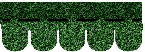 Onduline Bitumenschindel Classic Biber Bardoline Classic 100x34 cm Grün geflammt
