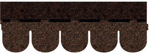 Onduline Bitumen Schindel Biber Bardoline Pro 100x34 cm Braun geflammt