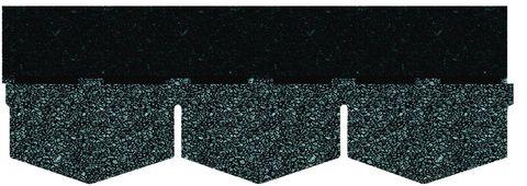 Onduline Bitumenschindel Pro Dreieck Bardoline Pro 100x34 cm Schieferblau