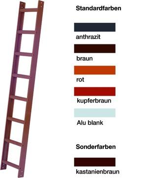 Geis&Knoblauch Dachleiter 8 Sprossen 2,19 m Alublank