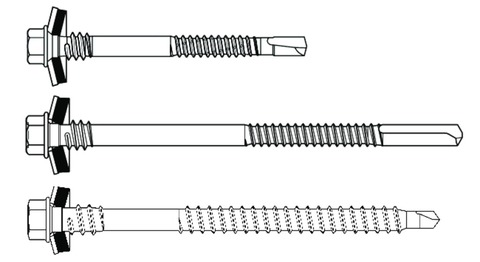 SFS intec Bohrschraube SXC14-S19 5,5x140 mm 100St/Pak mit S19 Dichtung Edelstahl V2A