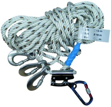 Bausysteme Pohl Seil 13 m mit Karabinerhaken und Seilkürzer