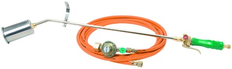 Perkeo Propan Aufschweißbrenner Set 60 mm 780/61/15/3 G3/8 Zoll P1 LH mit Schlauch 10