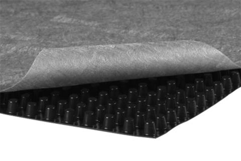 Optigrün Bautenschutz- und Drainmatte FKD10 für Entwässerung unter Gehbelagsfläche