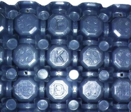 Optigrün Drainplatte FKD 25 Extensiv 1x2 m Dunkelgrau