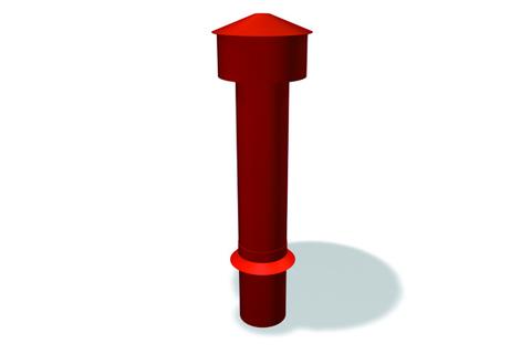 PRE Entlüftungsrohr 100mm STGR