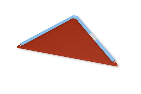 PREFA Startplatte stucco P. 10 für Dachraute inklusive Befestigung Moosgrün