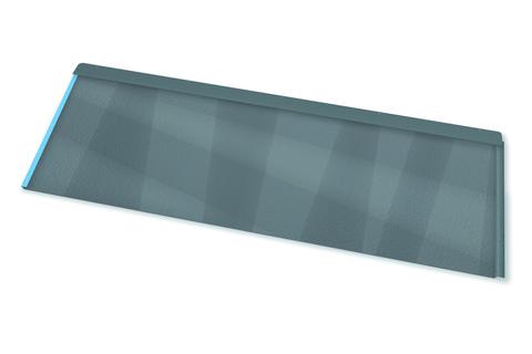 PREFA Dachpaneel FX. 12 groß P.10,1400x420 mm, glatt Hellgrau