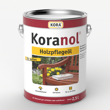 Obermeier Koranol Holzpflegeöl 2,5 l im Eimer Bangkirai