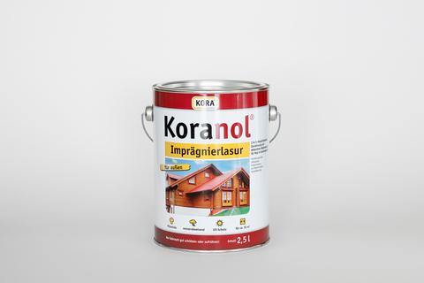 Obermeier Koranol Imprägnierlasur 2,5 l im Eimer Eiche hell