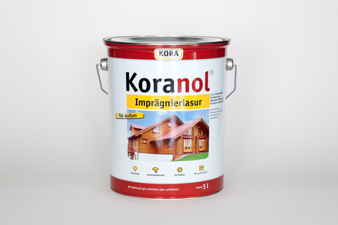 Obermeier Koranol Imprägnierlasur 5 l im Eimer Teak